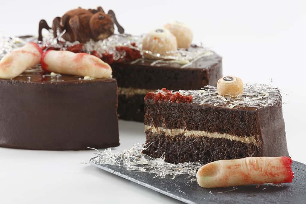 Receta de Tarta de Moka y Chocolate para Halloween