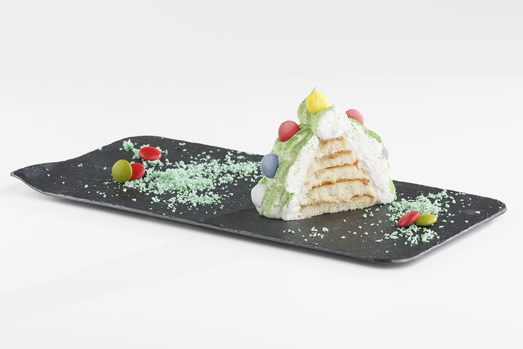 Receta de Pastel Árbol de Navidad con Chantilly de Turrón