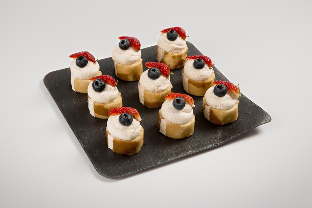 Mini pasteles de Crema con Trufa