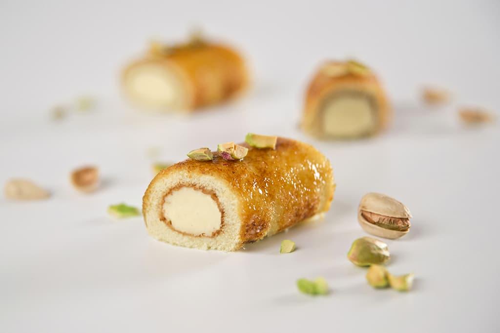 Receta de Mini pasteles de crema pastelera Flameados