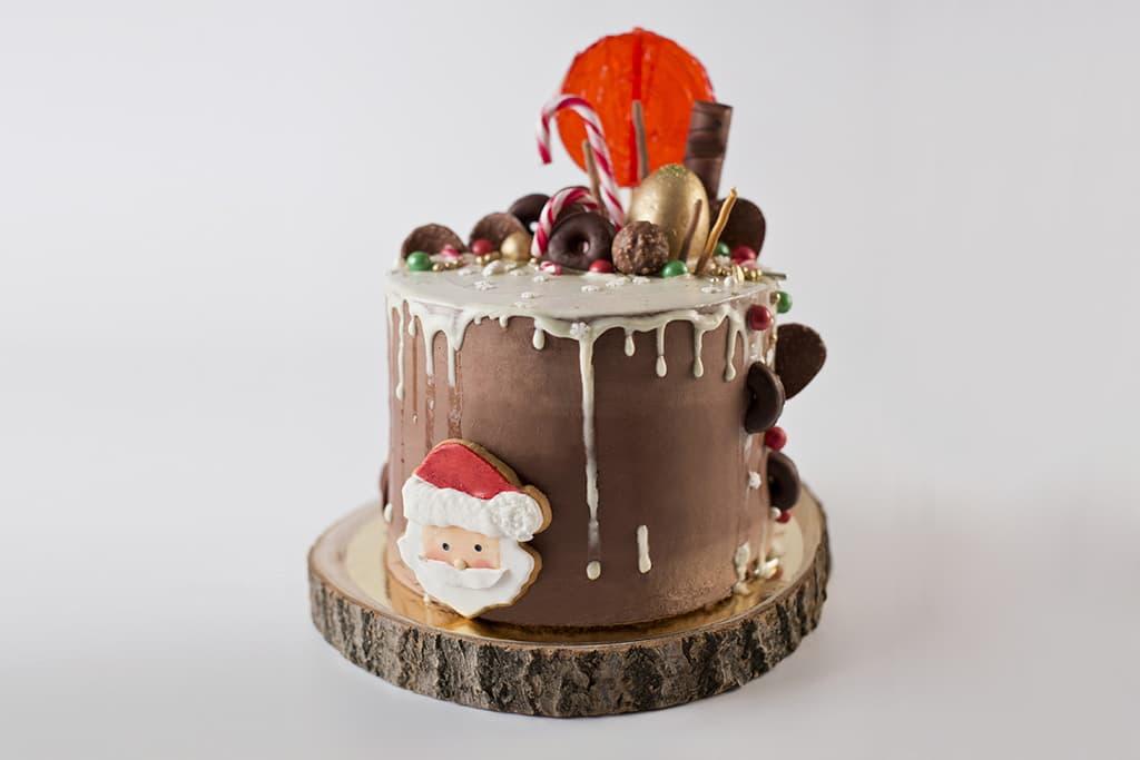 Receta de Tarta de navidad rellena de Merengue Suizo