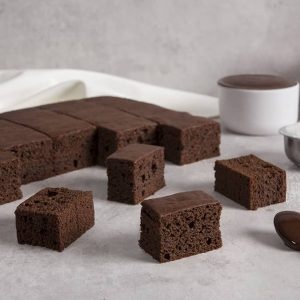Bizcocho Rectangular de Chocolate