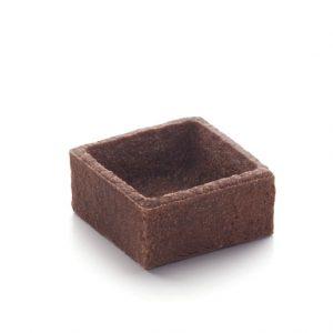 Mini Tartaletas Cuadradas de chocolate